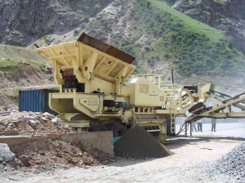 AIMIX Planta Trituradora De Piedra Móvil En Tayikistán