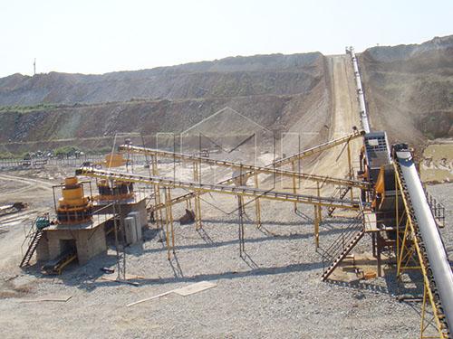 Línea Estacionaria De Trituración De Piedra Caliza