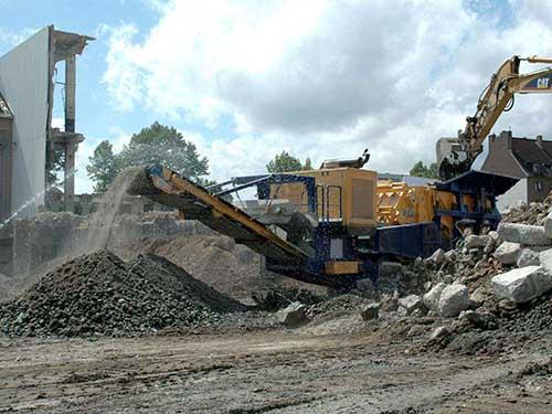 Planta Trituradora Portátil De Residuos De Construcción