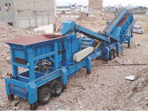 Máquina Trituradora De Escombros Con Alta Calidad